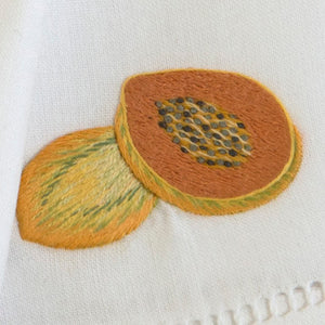 Melon & Papaya napkins