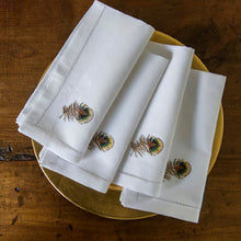 Pheasant Feather napkins