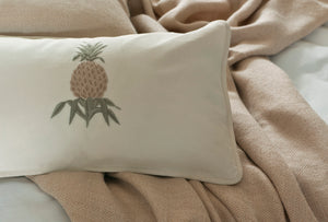Pineapple Stone linen cushion cover