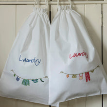 Travel laundry bags - Cornflower