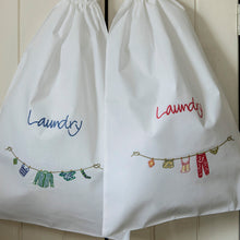 Travel laundry bags - Coral & Cornflower