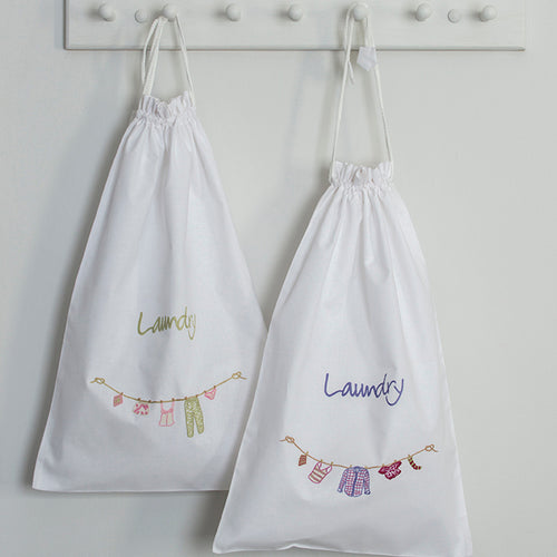 Travel laundry bags -  Green Pink & Purple