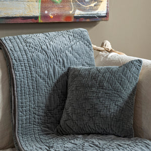 Vivaldi Pewter throw