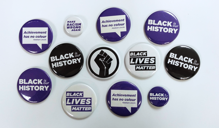 The Intersection of Black History & Button History | Black History Month Buttons