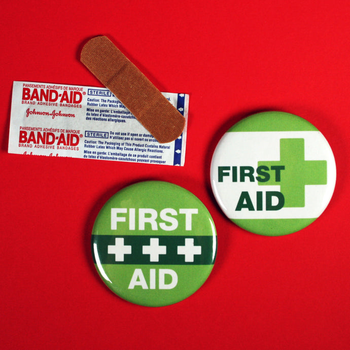 First Aid and CPR-Certified Buttons for Summer Events and Summer Camps | Custom Buttons Ottawa
