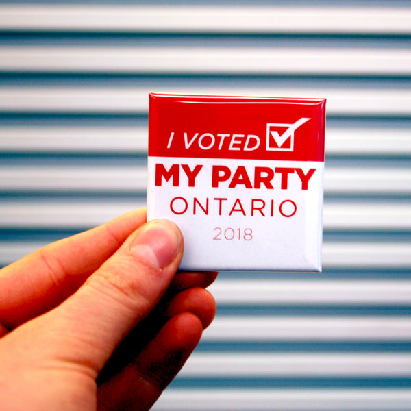 Custom Campaign Buttons for Ottawa Elections