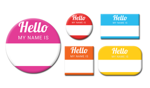 Custom Name Badge Buttons Canada