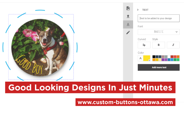 Design A Personal Dog Button Online