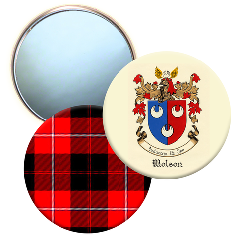 Custom Mirrors Family Crest or Family Tartan