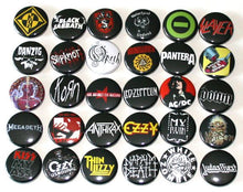 "1"" Band and Festival Pinback Buttons"