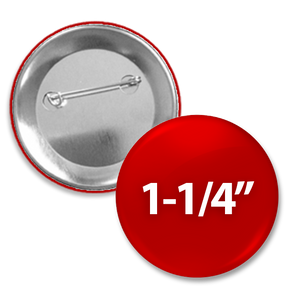 "Custom Round 1-1/4"" button with pin-back"