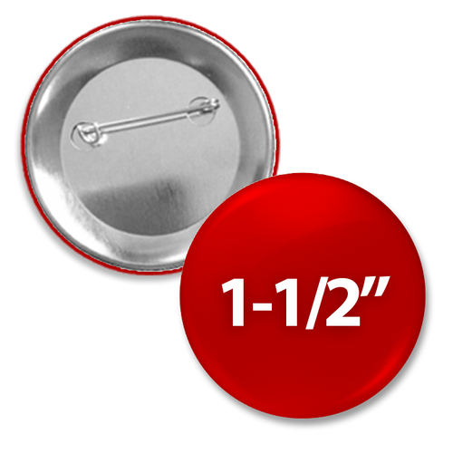1 1/2 inch Custom round pin back button