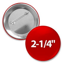 Custom Round 2+1/4 inch button with pin-back