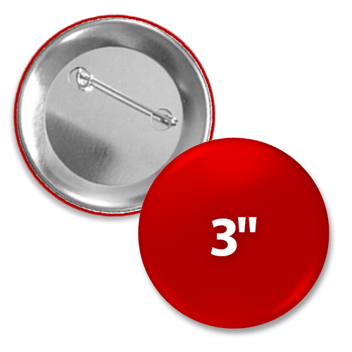 Custom Round 3 inch pin back button