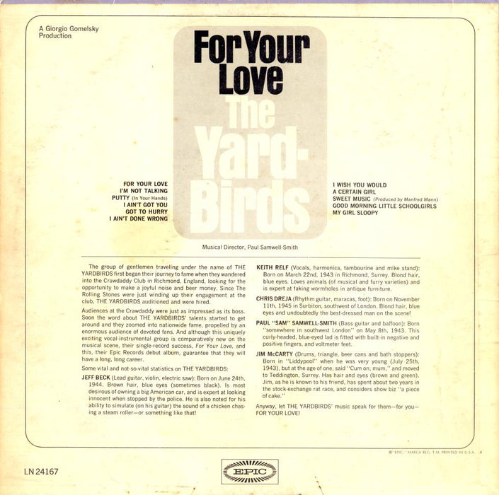 For Your Love (1st, MONO)