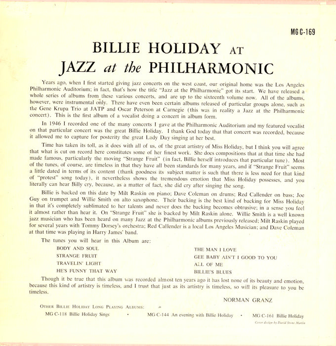 "At Jazz At The Philharmonic 10"" (US Original)"