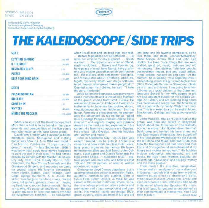Side Trips (1st, US Press)