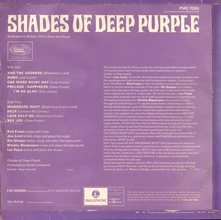 Shades Of Deep Purple (1st, UK Press)
