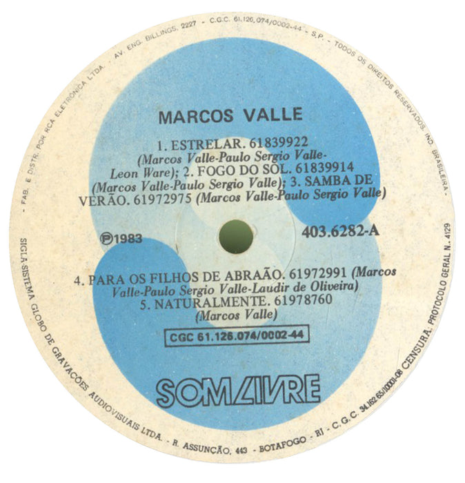 Marcos Valle (1st, Brazilian Press)