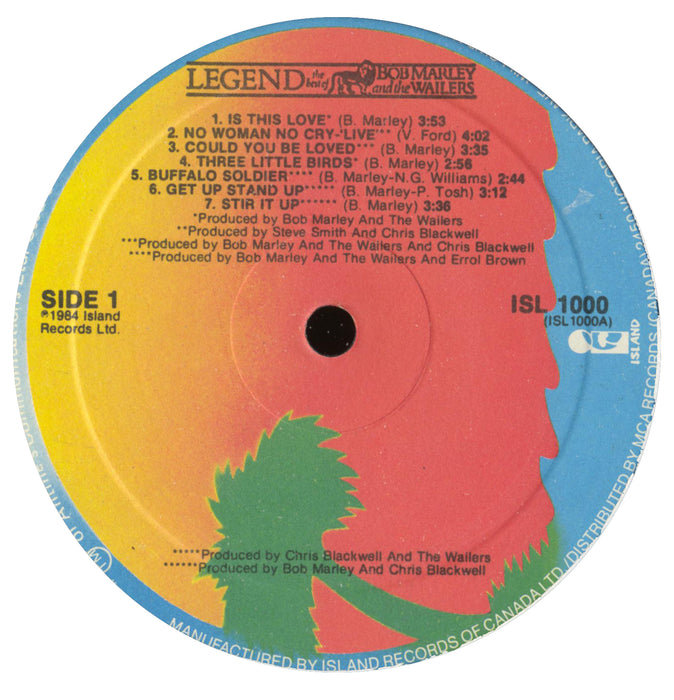 Legend - The Best Of Bob Marley And The Wailers (1984, Canda)