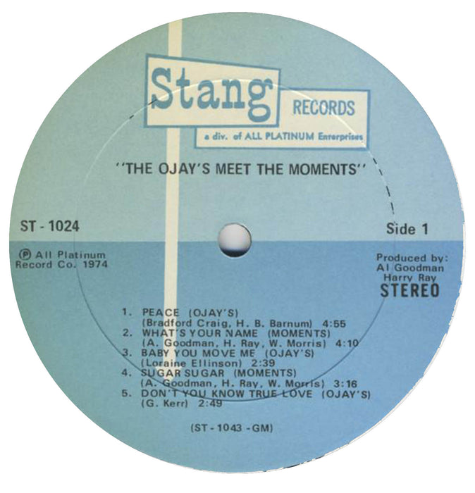 O'Jays Meet The Moments (1st, US Press)