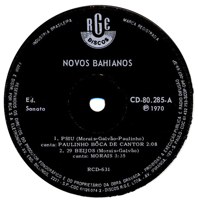 "Novos Bahianos (7"" Reproduction sleeve)"