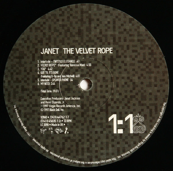 The Velvet Rope (1st, UK)