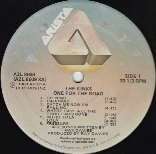 One For The Road (US Press)