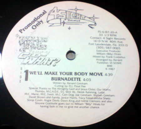 "We'll Make Your Body Move 12"" PROMO"