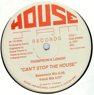 Can't Stop The House 12""