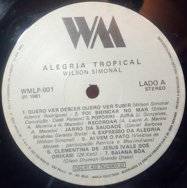 Alegria Tropical (1st, 1981)