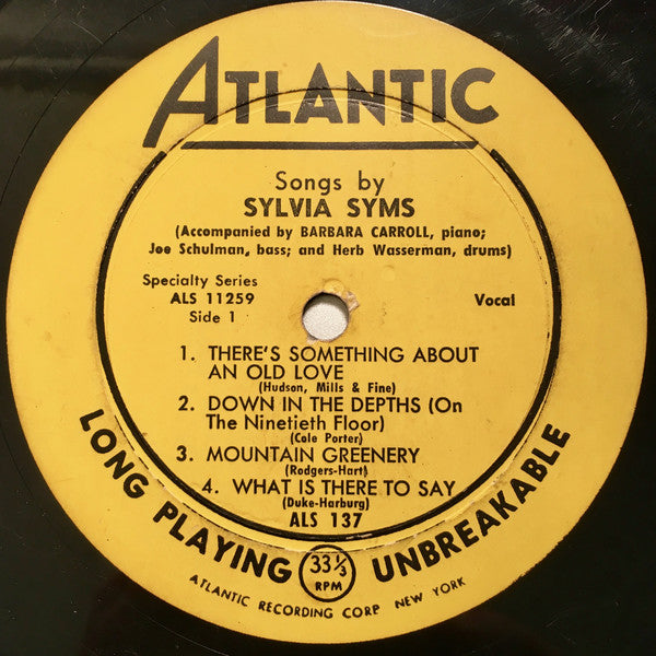 "Songs By Sylvia Syms (10"" OG)"