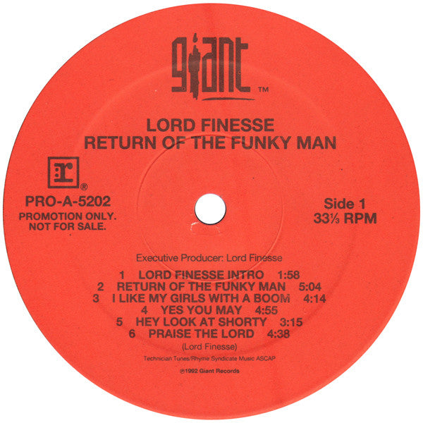Return Of The Funky Man (1st, US Press)