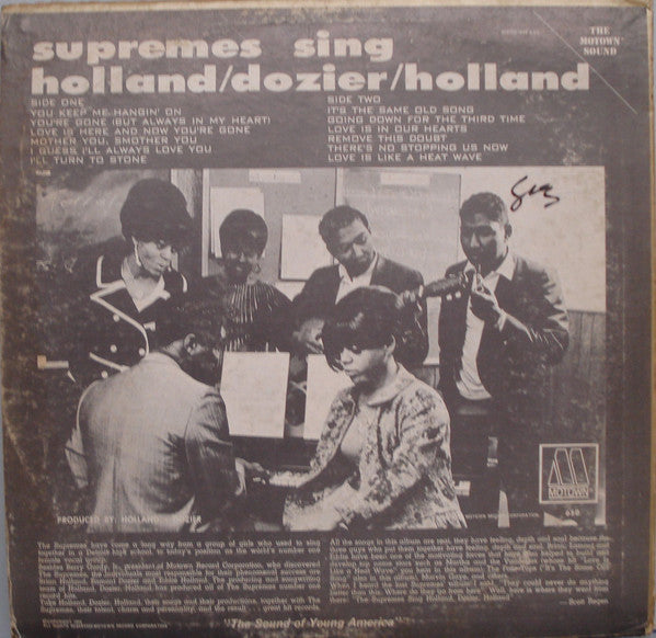 Supremes Sing Holland▪Dozier▪Holland MONO