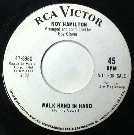 Walk Hand In Hand/Crackin' Up Over You 7""
