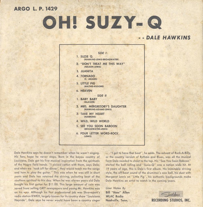 Oh! Suzy-Q (1st, US Press)