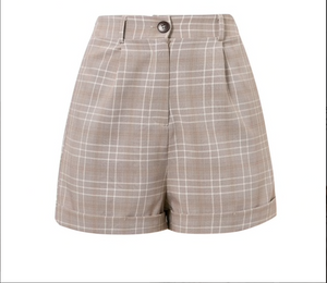 Plaid Suit Shorts