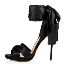 Load image into Gallery viewer, Satin Bow Sandals