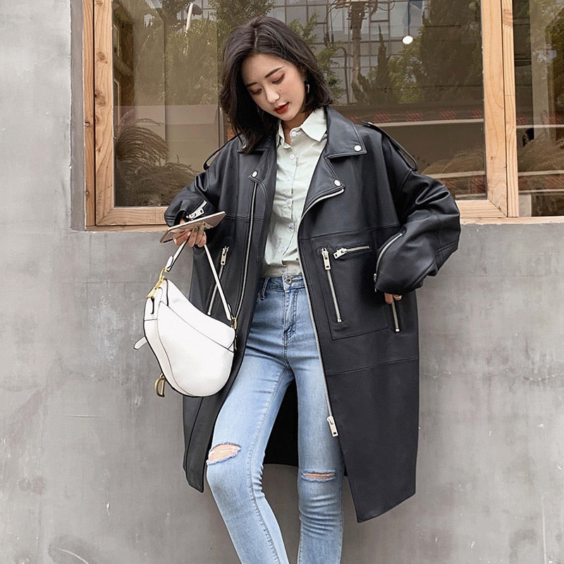 Oversized Leather Coat