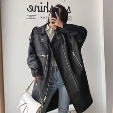 Load image into Gallery viewer, Oversized Leather Coat