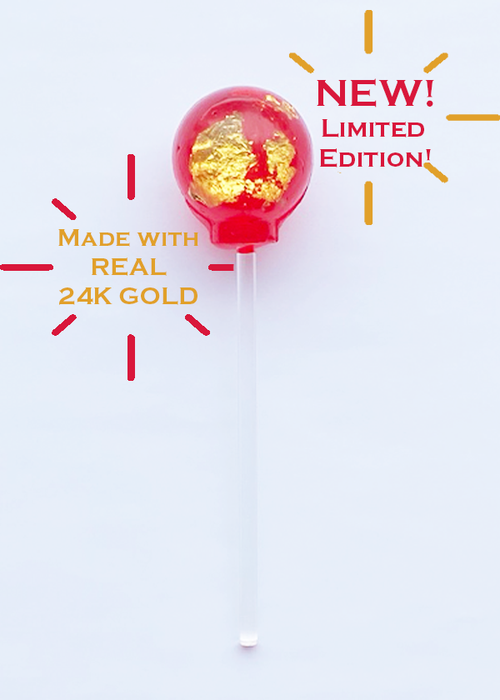 25 MG CBD Lollipop in 24K Gold