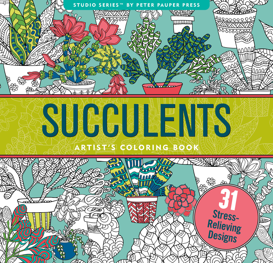 Succulents Coloring Book