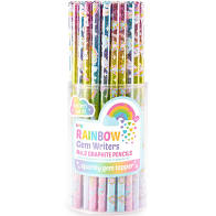Rainbow Glitter Gem Writers Graphite Pencils