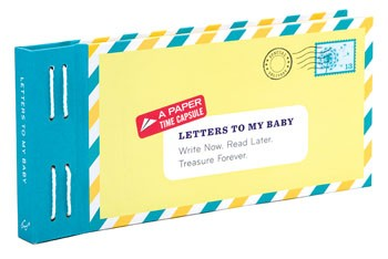 Letters to My Baby Time Capsule Hardcover Book