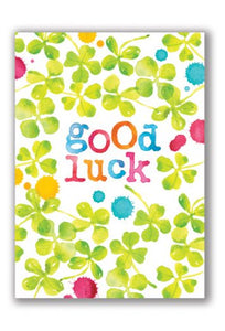 Good Luck Shamrock Greeting Card