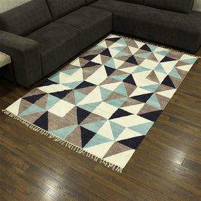 Craftter 2X3 Feet Handmade Super Soft Tringe Design Multi Color Polyester Area Rugs Polyester Dari Carpet