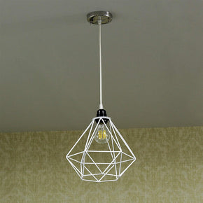 Craftter White Color Dimond Metal Hanging Lamp Pendant Light Decorative