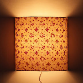 Craftter 5W Wall Lamp Fixture, Off White / Red And Yellow, Half Cylindrical Shape