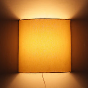 Craftter Plain Yellow Color Fabric Half Shade Wall Lamp Fixture Attractive Fancy Wall LED Light Lamps for Home and Office Fancy Wall Lights and Lamps for Home Decoration Indoor and Outdoo