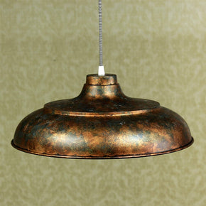 Craftter 17 inch Dia Rustic Copper Color Metal Pendant Lamp Hanging Light Decorative Ceiling Light